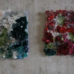 wall hangings from plastic bags, Ines Seidel