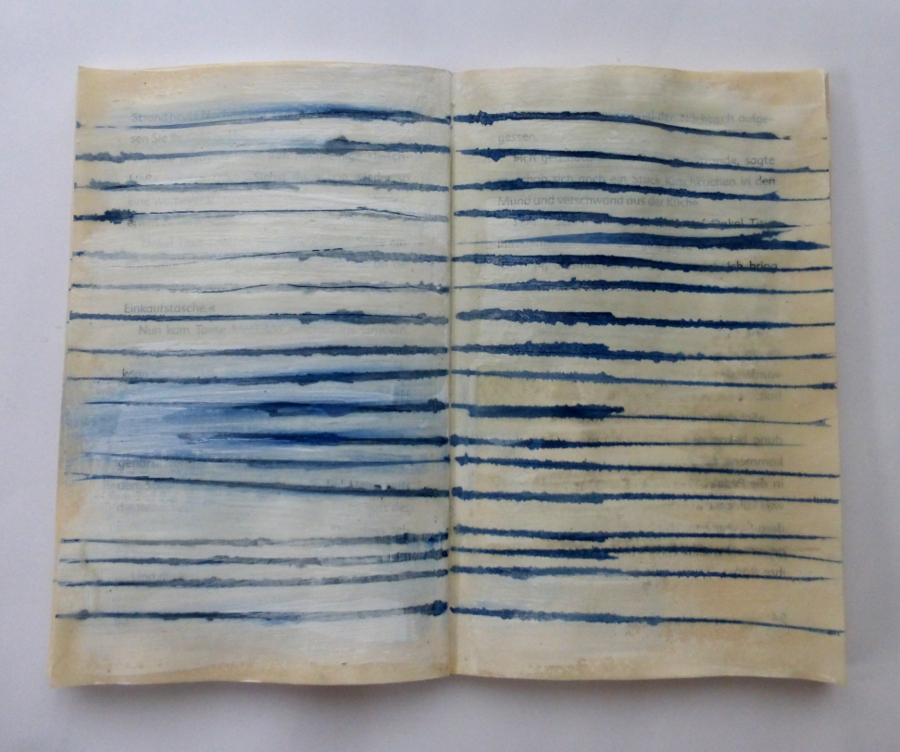 Empty Lines. altered book. Ines Seidel.