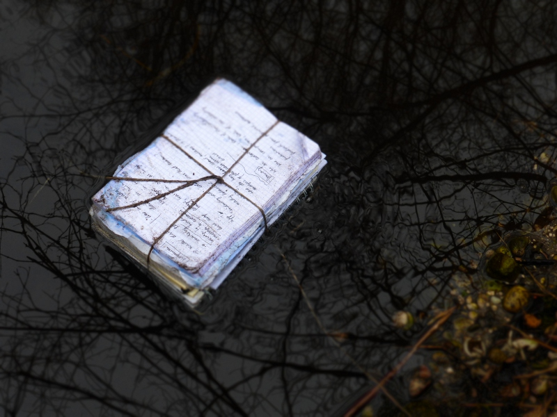 stories in water. series of photographs with diaries. Ines Seidel