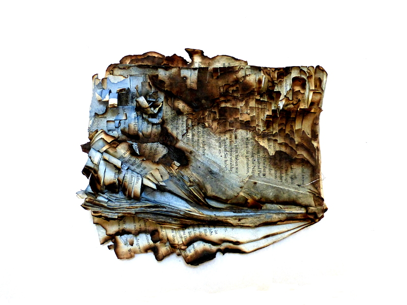 shape of a story. altered book. Ines Seidel.