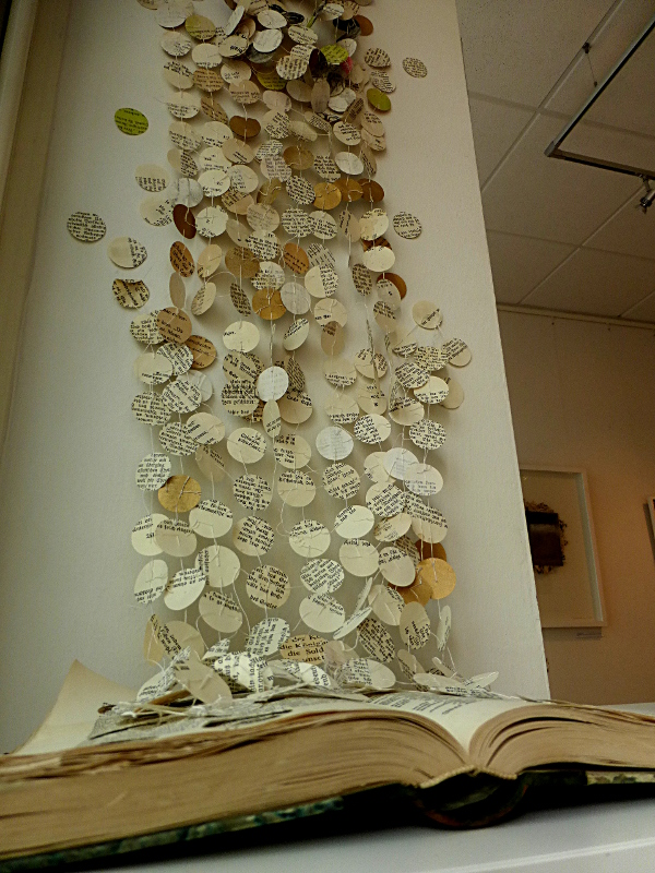 the story goes on. book installation. Ines Seidel