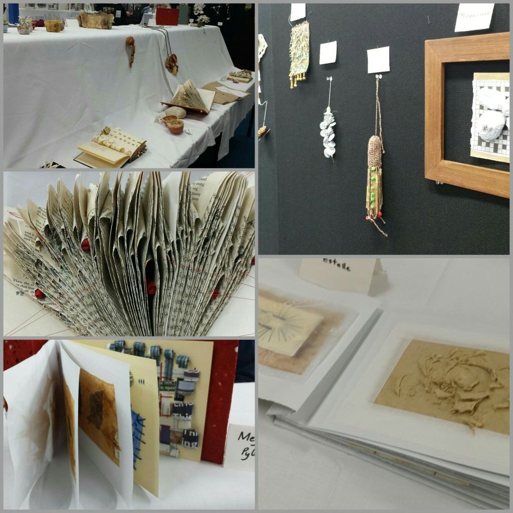 "exhibition from my workshop ""Paper, Yarn & Explorations"""